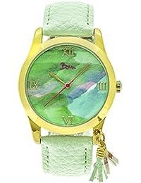 ・ブームAquarelle水彩ダイヤルleather-band Watch、ミント、標準、