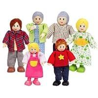 Hape - Happy Family Doll House - Doll Family - Caucasian ドール 人形 おもちゃ (並行輸入)