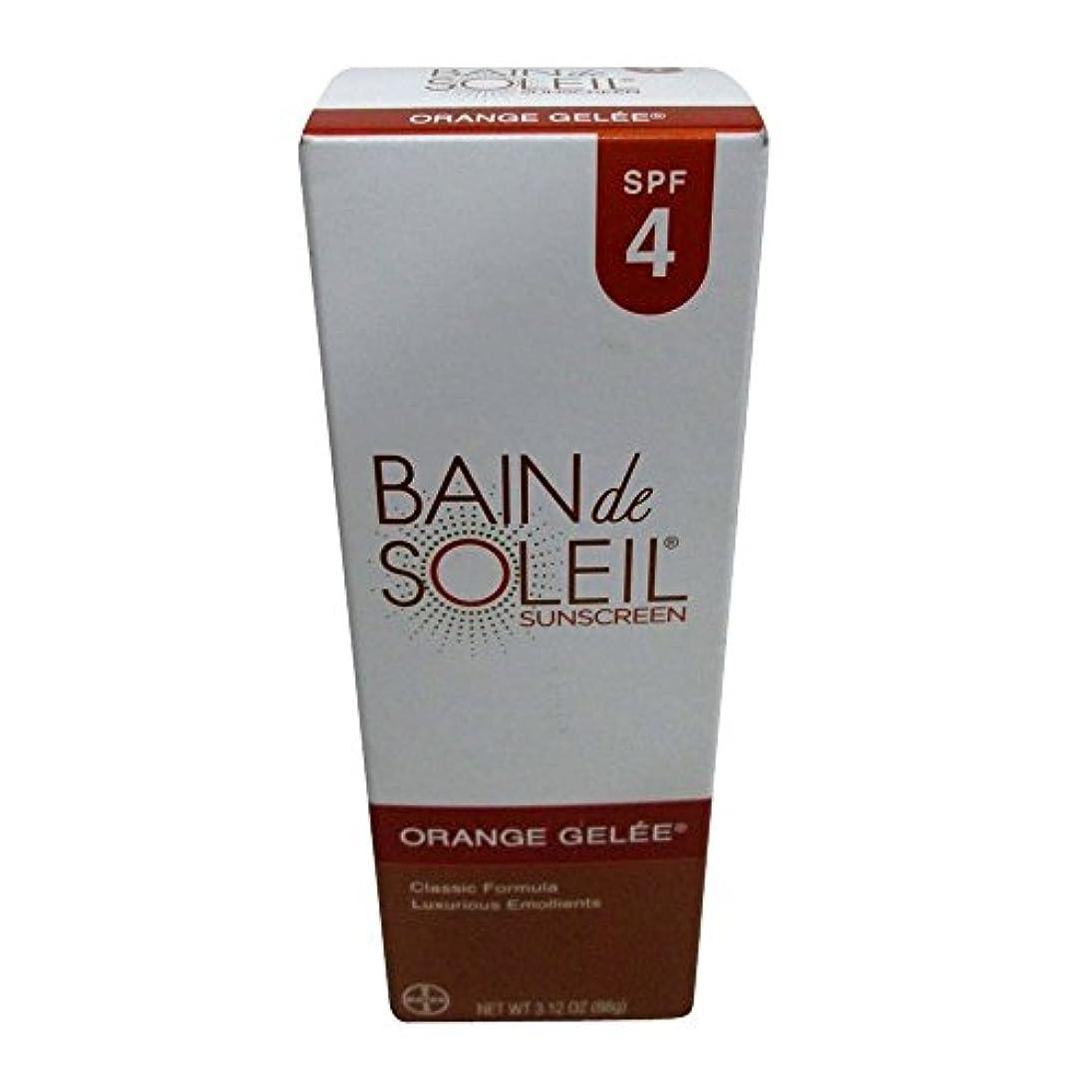 仮説日食部分的Bain De Soleil SPF#4オレンジジュレ3.12オンス(92.3Ml)(6パック)