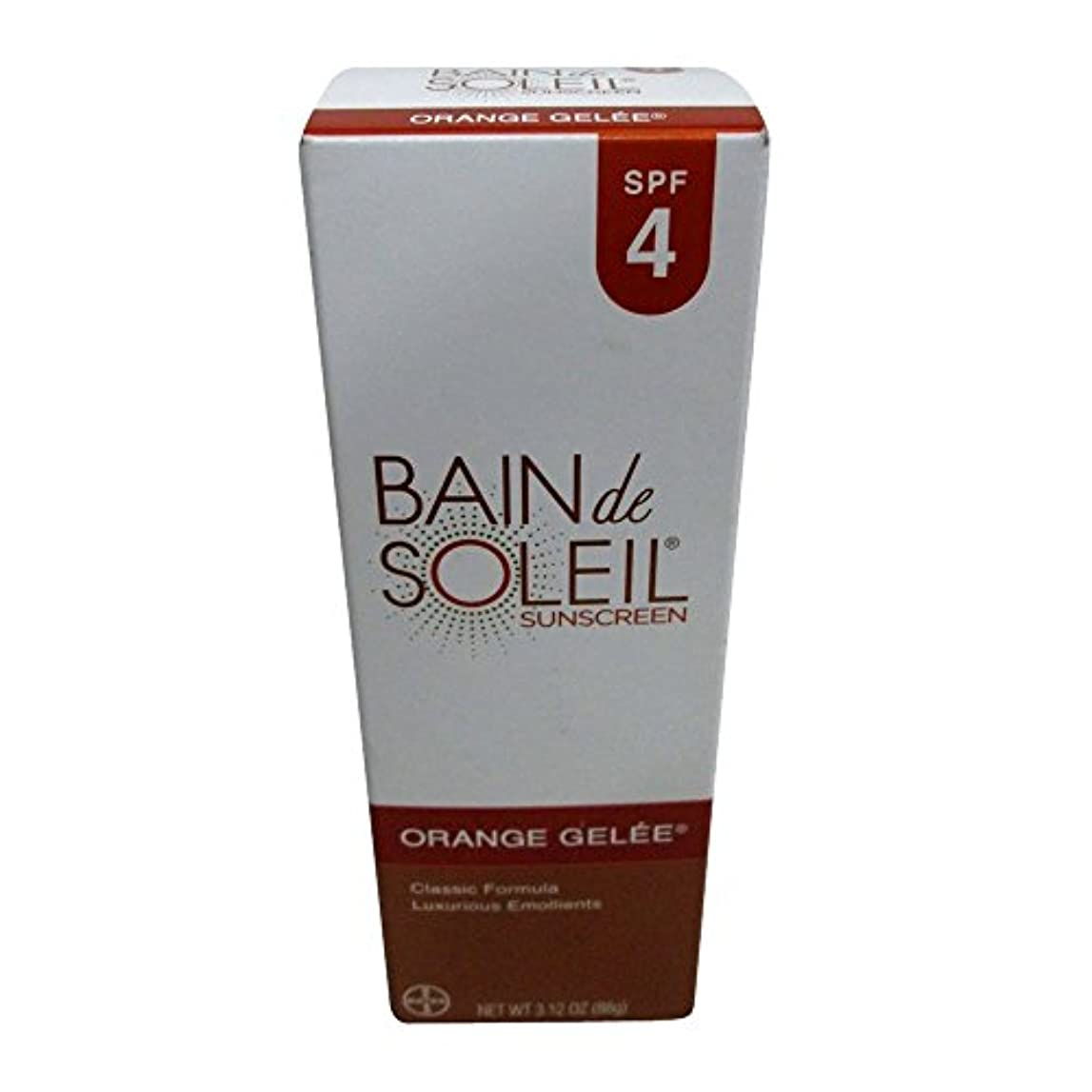 パテ回想微弱Bain De Soleil SPF#4オレンジジュレ3.12オンス(92.3Ml)(6パック)