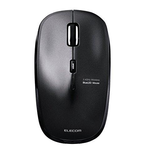 エレコム ワイヤレスマウス BlueLED 静音マウス 5ボタン 2.4GHz ブラック M-BL21DBSBK