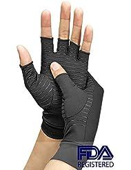 関節炎圧縮手袋は、リウマチ、RSI、手根管のコンピューター入力と日常作業、手と関節のサポートから痛みを和らげます