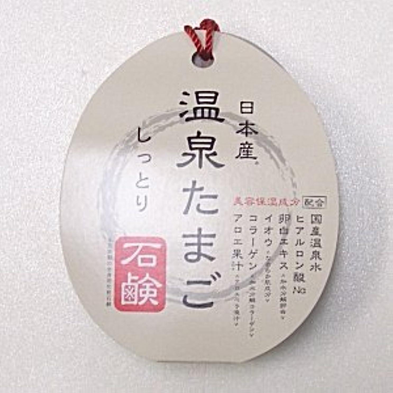 テーブルを設定するメトリック精緻化日本産 温泉たまご石鹸 しっとりタイプ 75g