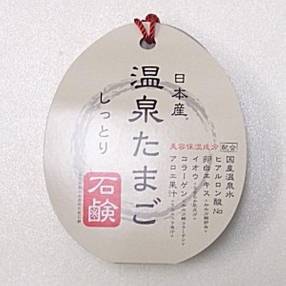 土砂降り間欠反論日本産 温泉たまご石鹸 しっとりタイプ 75g