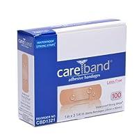 Care Band Waterproof Adhesive Bandages 1x3 100/box by Careband