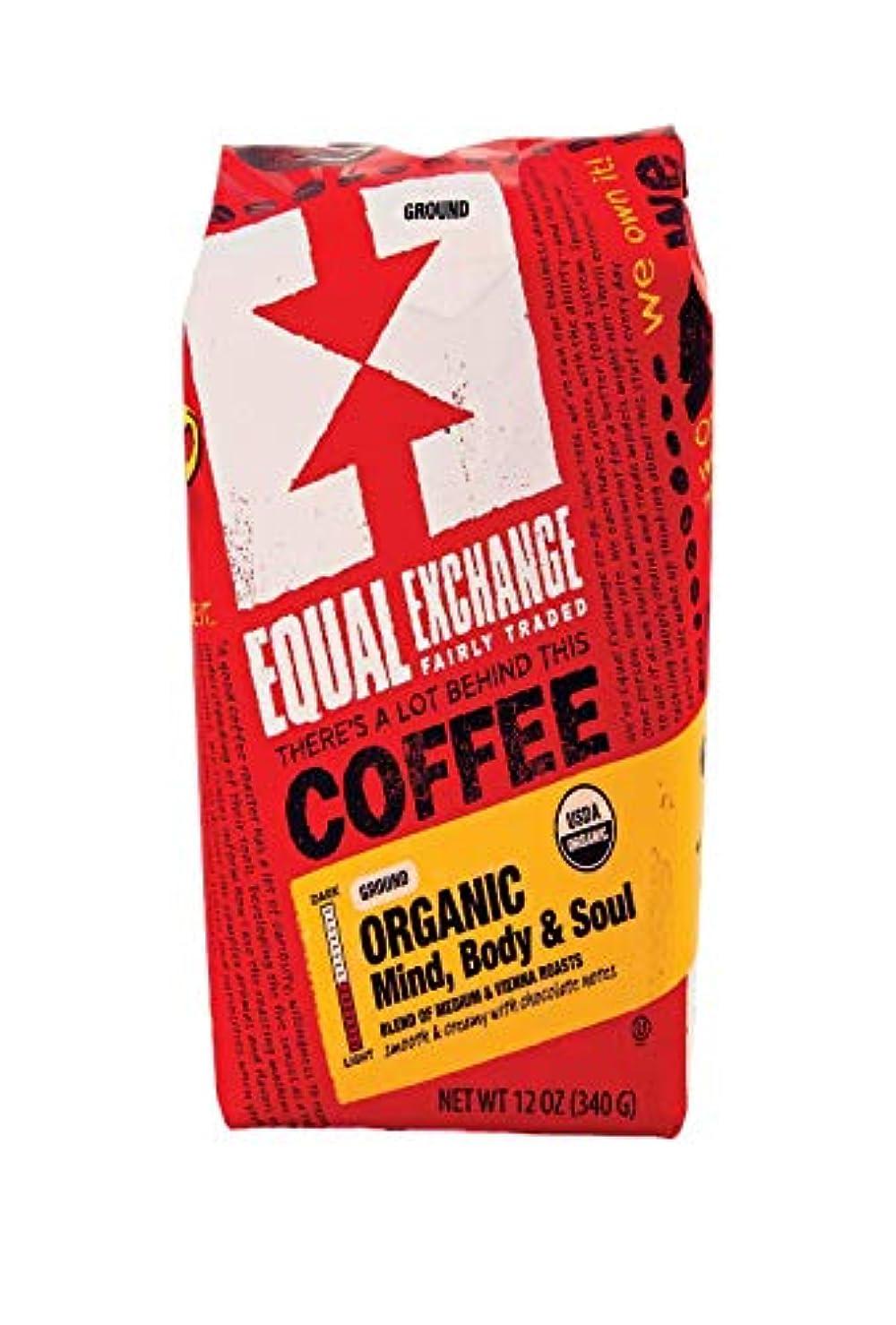 サロン絡まるブラストEqual ExchangeオーガニックMind Body & SoulコーヒーGround Medium Roast – - 12 oz