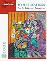 ザクロアンリマティス紫のローブとアネモネ、1000ピースジグソーパズル