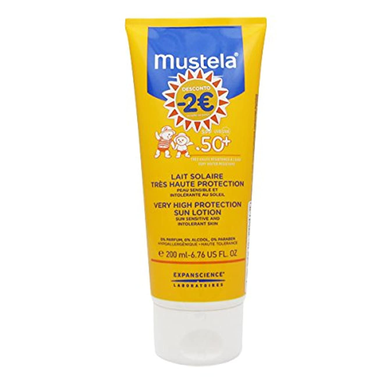 希望に満ちた不合格不愉快にMustela Solar Milk Spf50 + 200ml [並行輸入品]