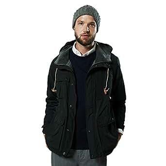 [ジーアールエヌ] マウンテンパーカー 18AW[黒 Sサイズ] ユニセックス 無地 ボーダー リバーシブル (ショッピングバックセット)