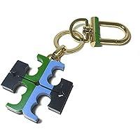 a40d512bb391 トリーバーチ TORY BURCH キーホルダー 31899-466 STRIPED RESIN KEYFOB プラスティック×メタル ロゴ キーリング  マルチ