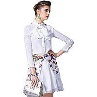 (a la mode) アラモード 大人 エレガント 高級 シルク100% フリル リボン ドレスシャツ ブラウス 長袖 レディース お呼ばれ qin17