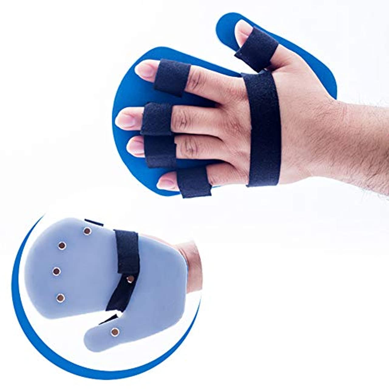 世論調査スピーカー通行人指のサポートスプリント親指手首の傷害回復スプリントフィンガーセパレーター手アライナー手根管関節の痛み軽減装具指サポートトレーニングブラケット,righthand