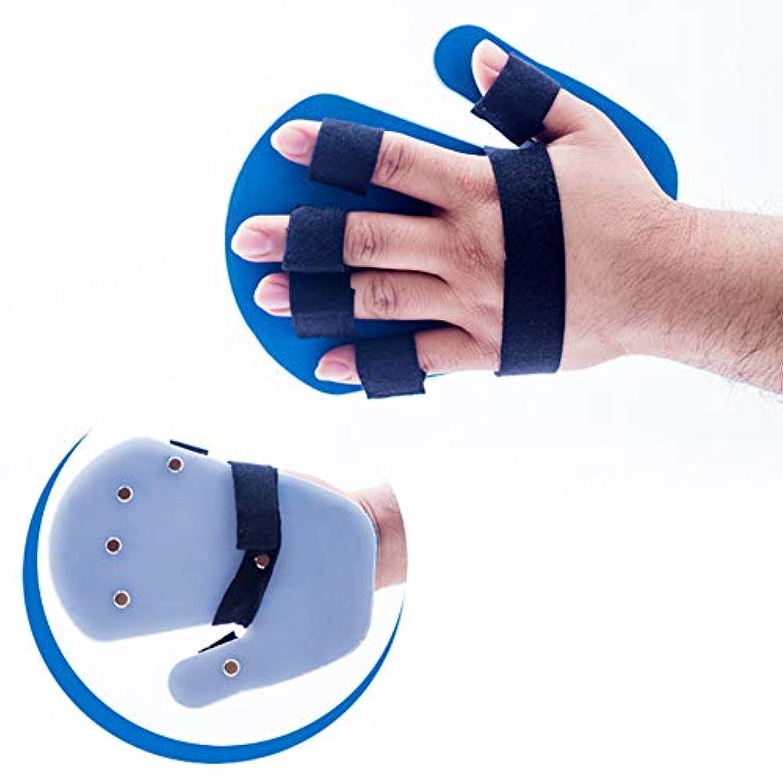 陰気懐疑的プログレッシブ指のサポートスプリント親指手首の傷害回復スプリントフィンガーセパレーター手アライナー手根管関節の痛み軽減装具指サポートトレーニングブラケット,righthand