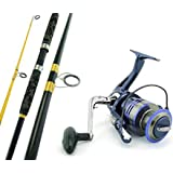 SARATOGA 12'0 15kg Surf Beach Spinning Fishing Rod and Reel Combo Rock Salmon