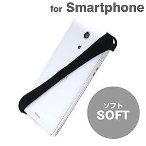 スマホバンド【Soft】ブラック iPhone5s Xperia z2 zl2 等に対応