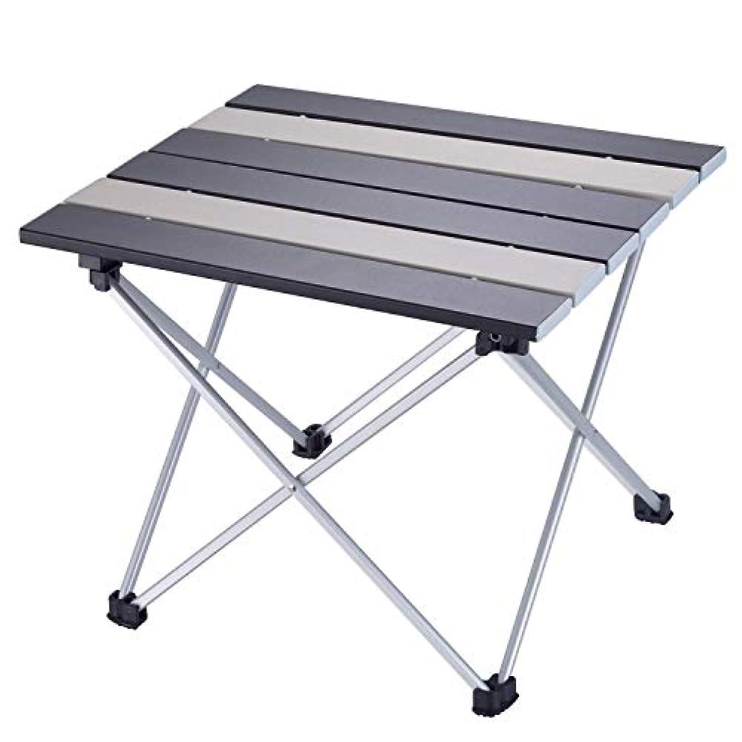 ホース章気分が良いLvtocvo アウトドアテーブル 折り畳みテーブル アルミニウム合金表面 超軽量 防水 耐熱 キャンプ ピクニック 釣り 花見などのテーブル