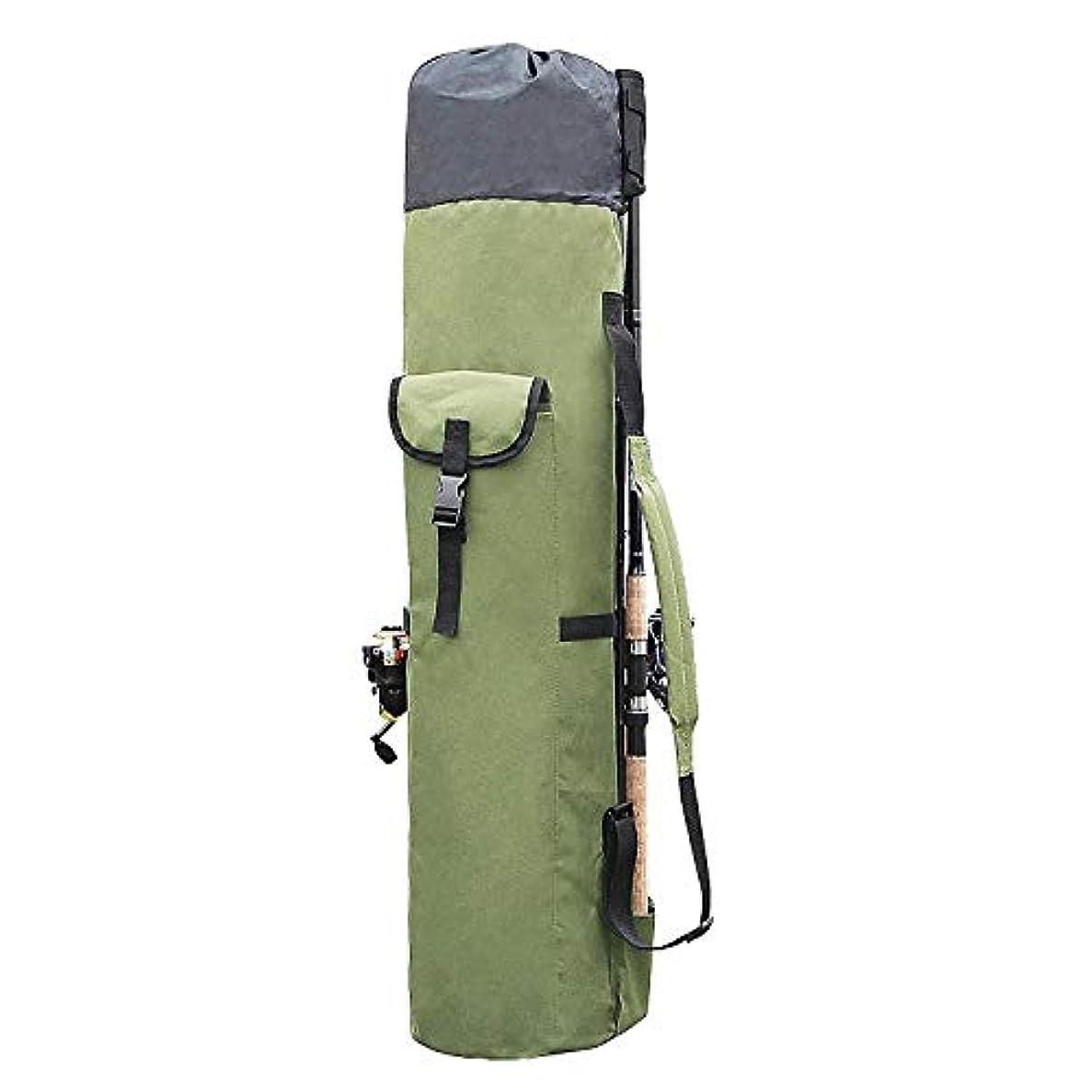 操るトークビジョンJVSISM 釣りバッグ ポータブル多機能ナイロン釣り竿収納ケース キャンバスリールオーガナイザー 旅行キャリーポールツールバッグ