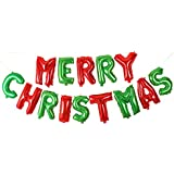 Baoblaze クリスマスパーティー 風船 レターフォイルバルーン おもちゃ プレゼント 3色選べ - カラフル