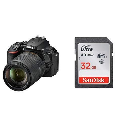 Nikon デジタル一眼レフカメラ D5600 18-140 VR レンズキット ブラック D5600LK18-140BK + SanDisk ウルトラ SDHCカード 32GB Class6 UHS-I [エコパッケージ]