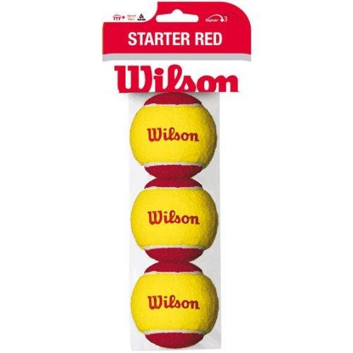 ジュニア キッズ用 硬式 テニスボール STARTER RED (スターターレッド) 3個入り WRT137001