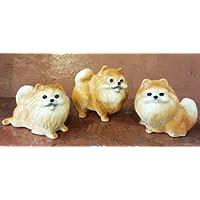 3 D Ceramic Toy Pomeranian Dog Dollhouse Miniatures Free Ship by ChangThai Design [並行輸入品]