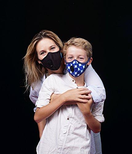 Cambridge Mask Co ケンブリッジマスク会社 N99汚染対策マスク、家庭洗濯可能 長さ調整可能な耳掛ストラップ サイクリング用マスク/中国旅行用/インド旅行用/男性/女性/子供/幼児/ランニング用/旅行用/ダスト対策/大気汚染防止/バイク/スポーツ