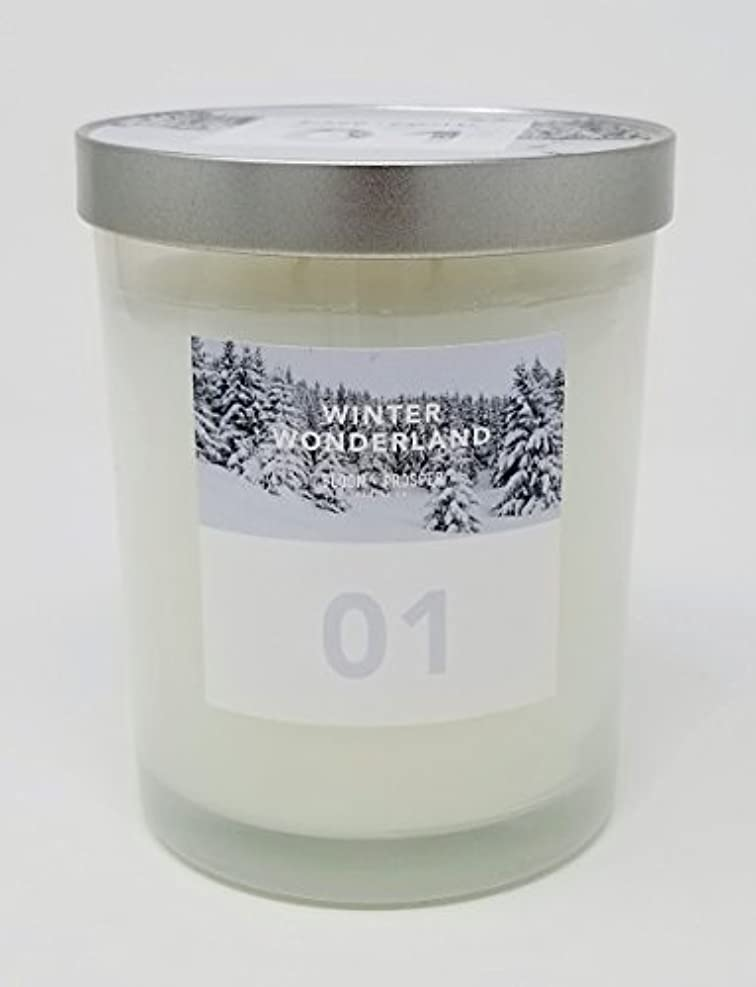 可塑性モートモノグラフBloom & Prosper no 1 Scented Candle – Winter Wonderland – 14.535 Oz