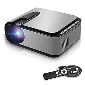 プロジェクター 小型 データプロジェクター 3600lm 1080PフルHD対応 高解像度 ビジネスプロジェクター ホームプロジェクター 高画質 HDMIケーブル付属 パソコン/カラオケマシン/タブレット/ゲ一ム機/ビデオ/デジタルカメラ/レコ一ダ接続 VGA /HDMI/USB/DVD/VCD対応 日本語取扱説明書 xianyuan