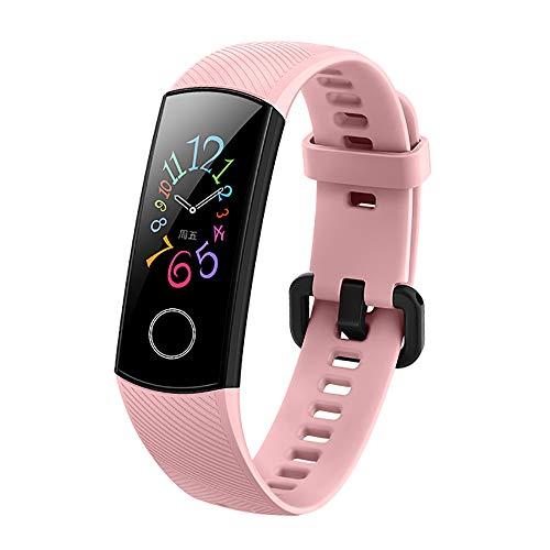 Huawei Honorバンド5 スマートバンドスボッツウオッチ 心拍数 睡眠モニタリング 2.5 Dガラス 無NFC 30日連続使用可能防水 ウオッチ (ピンク)