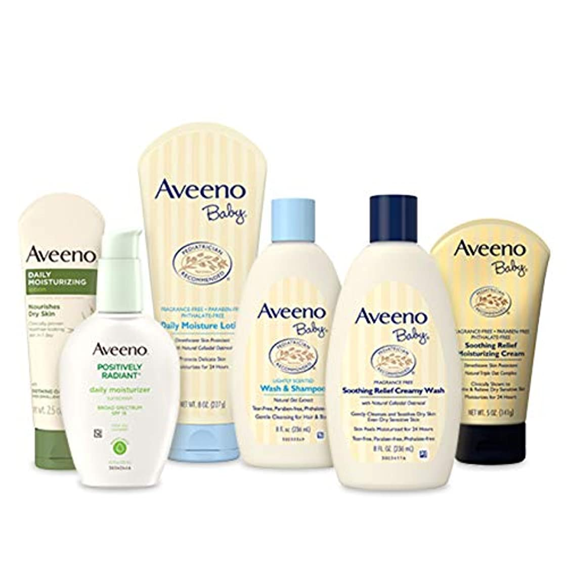 独占ローズニコチンAveeno Baby Gift Set, Daily Care Essentials Basket, Baby and Mommy Gift Set by Aveeno [並行輸入品]
