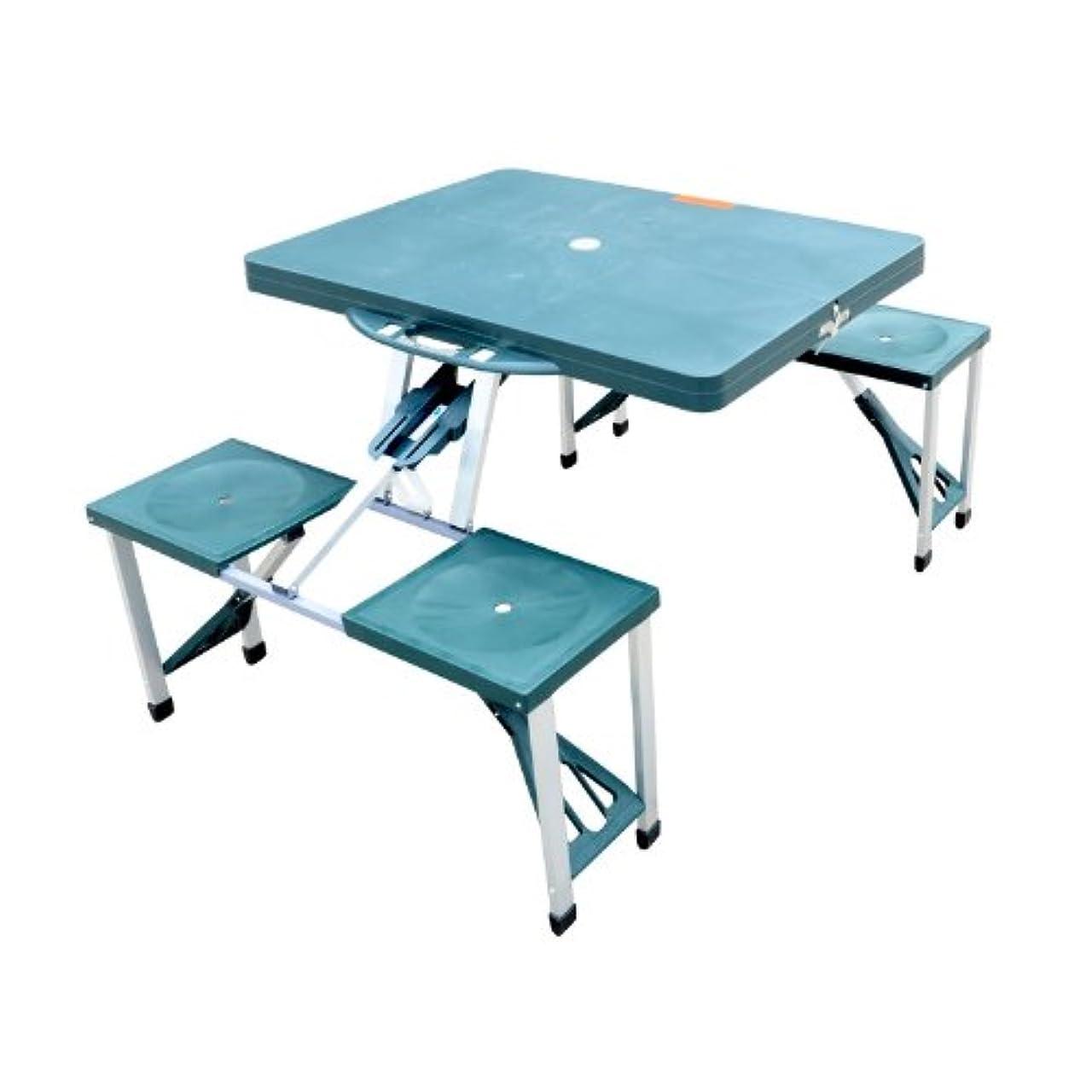 モロニック曲ソビエトOutsunnyポータブル折り畳みアウトドアCampスーツケースピクニックテーブルW / 4シート