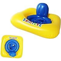 hibote マイベビーフロート 付き浮き輪 シェード ベビーボート 足入れ浮き輪 座付き ベビー用 10月-36月赤ちゃん
