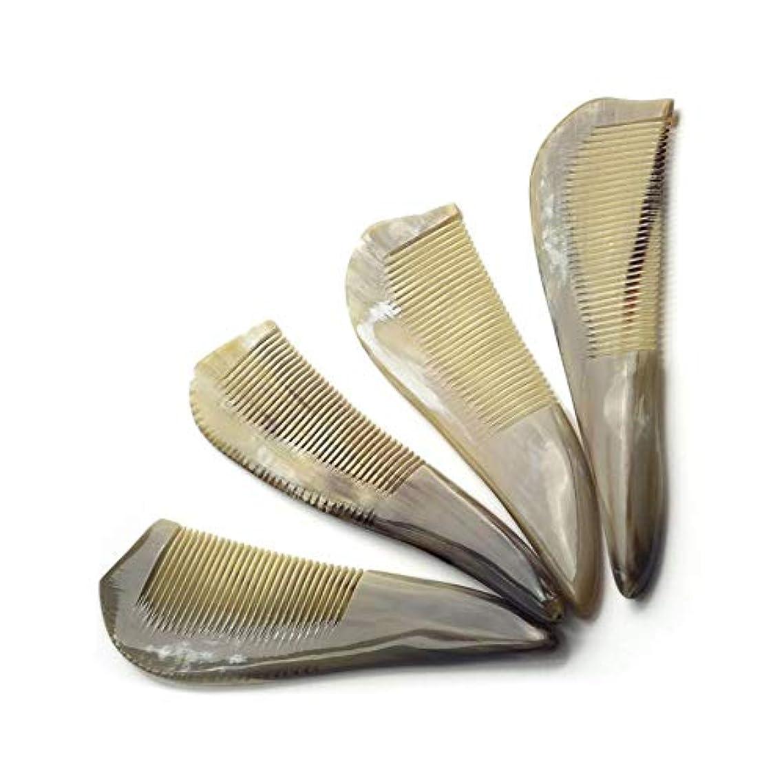 悪名高い規制五Fashianホーン櫛静電気防止木製Haircomb、頭皮マッサージコームを刺激するためのファイン歯 ヘアケア
