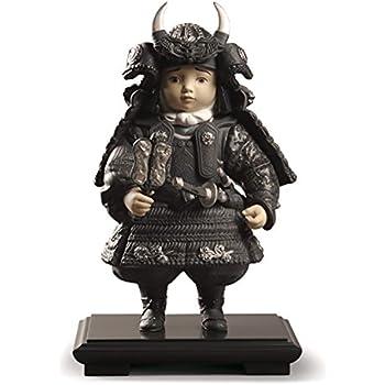 リヤドロ 五月人形 子供大将飾り 武者人形 Lladro 磁器人形 若武者 Silver 台座付 限定3500体 h315-01013047