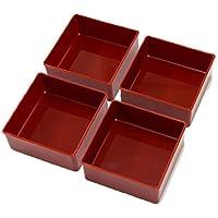 日本製 新19.5重箱用仕切鉢4個セット 赤 59030
