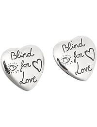 グッチ ピアス アクセサリー GUCCI 455255 J8400 0701 ブラインド フォー ラブ BLIND FOR LOVE メンズ/レディース シルバー [並行輸入品]