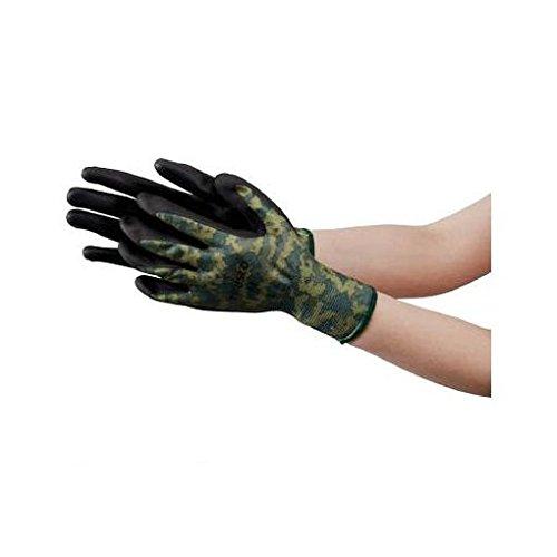 [해외]EN96399 니트릴 背?き 위장 장갑 LL 사이즈/EN 96399 nitrile back stroke camouflage gloves LL size