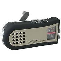 ドリテック(dretec) 手回しケータイ充電ラジオ PR-306BK
