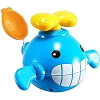 【ノーブランド 品】赤ちゃん お風呂 玩具 水 ワインドアップ 時計仕掛け 水遊び クジラ プラスチック ギフト