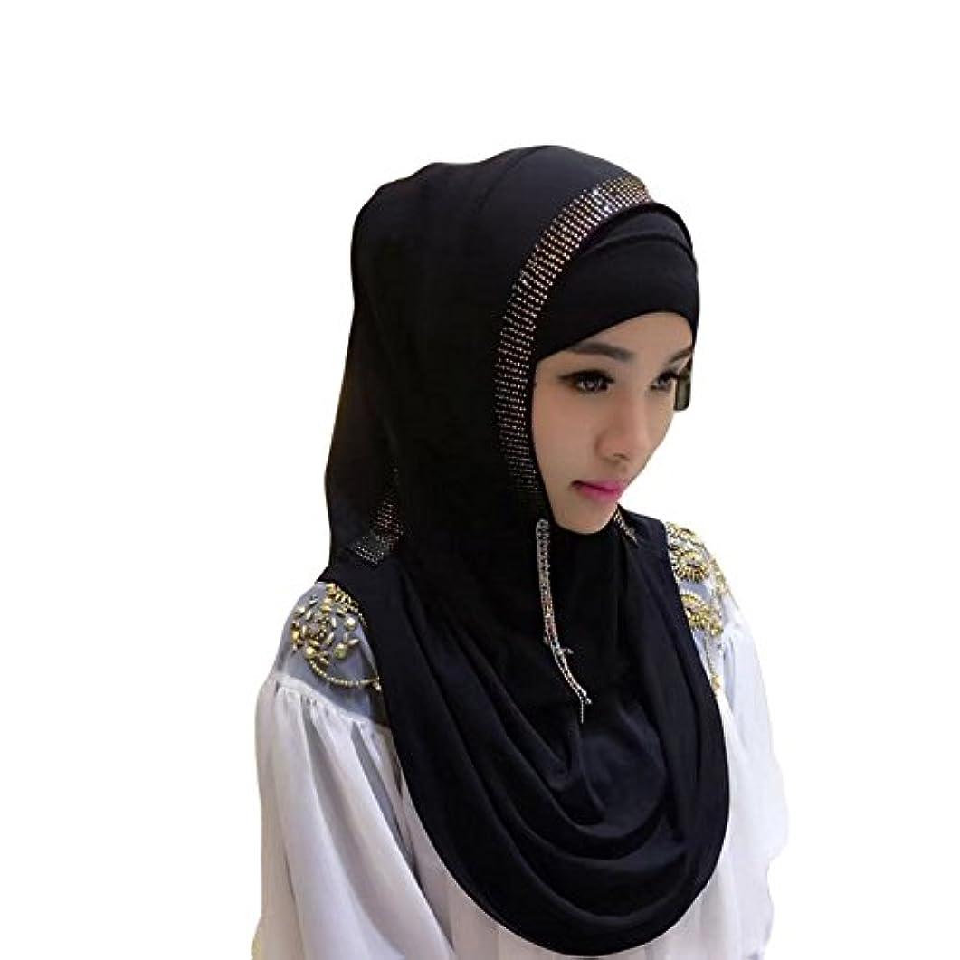 聖書医師気味の悪いHzjundasi イスラム教徒 女性 Crystal Drill ヘッドカバー イスラム コットン スカーフ アラビア ショール ヒジャブ