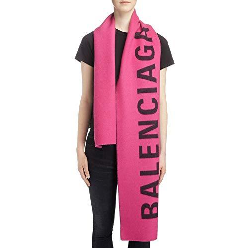 (バレンシアガ) BALENCIAGA レディース マフラー・スカーフ・ストール Logo Jacquard Wool Scarf [並行輸入品]