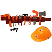 Play Tool Belt With Tools And Construction Helmet : set by OKK TRADING INC [並行輸入品]
