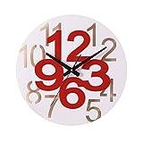 クロックス メンズ ブーツ ZLR ファッションミュート 円形の形のクリエイティブな手作り時計のベッドルームの壁時計パーソナライズドのホームウォールクロック ( 色 : A )