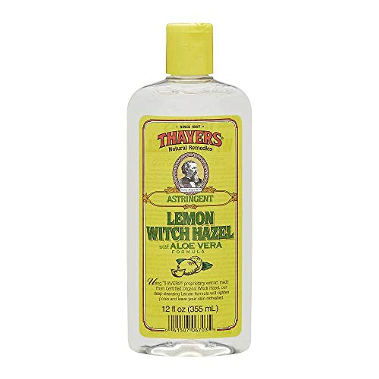 程度スタイルシルクThayers Witch Hazel with Aloe Vera Astringent 12 fl oz Lemon [並行輸入品]