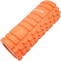 LENDOO フォームローラー 写真付きマニュアル ヨガポール ヨガ グリッド ストレッチローラー マッサージ器具 ローラー 筋膜リリース 腰痛・肩コリ・筋肉痛を改善