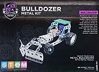 STEM Science Squad Bulldozer Metal Kit with Metal Tools 96 Model Pieces