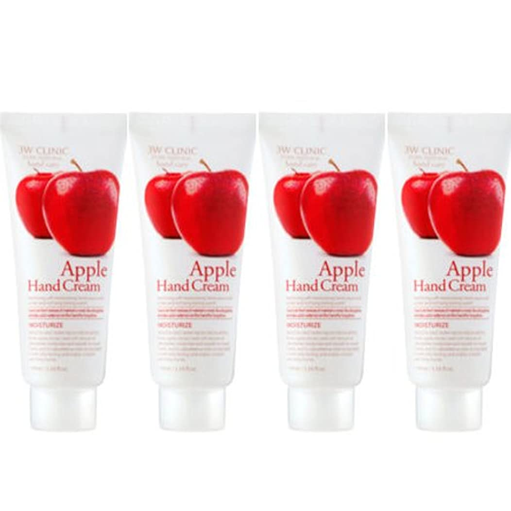 精通した有名強化する3w Clinic[韓国コスメARRAHAN]Moisturizing Apple Hand Cream モイスチャーリングリンゴハンドクリーム100mlX4個 [並行輸入品]