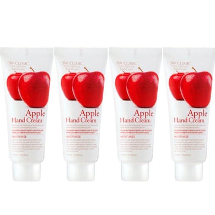 グレー限りなく断線3w Clinic[韓国コスメARRAHAN]Moisturizing Apple Hand Cream モイスチャーリングリンゴハンドクリーム100mlX4個 [並行輸入品]