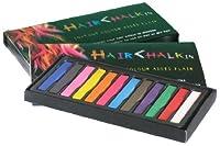 大ブレイク中!HAIR CHALKIN 選べる 12色/24色 髪専用に開発された安心商品!! ヘアチョーク ヘアカラーチョーク  一日だけのヘアカラーでイメチェンが楽しめる!美容室のヘアカラーでは表現しづらい色も表現できます! 安心のAmazonセンターよりすぐ発送します。 (12色セット)
