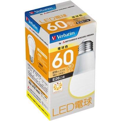 三菱化学メディア LED電球 60W形210度 810lm LDA10L-G/V3 個